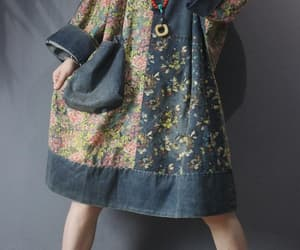 etsy, hooded dress, and denim dress image