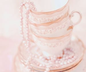 cups, pearls, and pink image