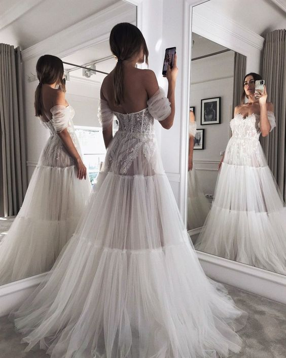 bride, clothes, and dress image