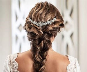 beauty, braids, and bride image