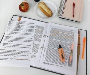 food, notes, and school image
