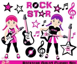 illustration, rockstar, and music image