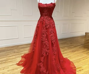 dresses, prom dress, and red dress image