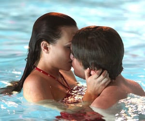 Blair and nate in school pool