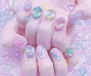 kawaii, nails, and pastel image