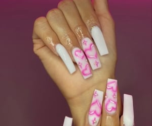 long nails, cute nails, and acrylics image