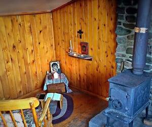 bible, cabins, and Catholic image