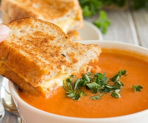 food, soup, and delicious image
