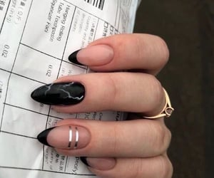 black, nails, and nail art image