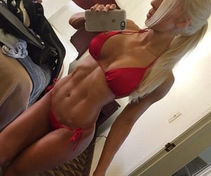 abs, bikini, and blonde image