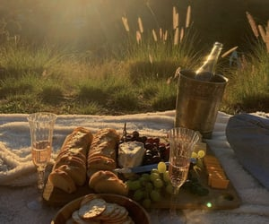 aesthetic, picnic, and sunset image