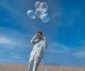 balloons, blue, and endless image