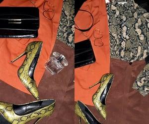 heels, snake, and Versace image