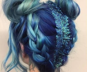 blue, sparkle, and dark blue image