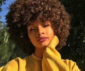 Afro, beauty, and fashion image
