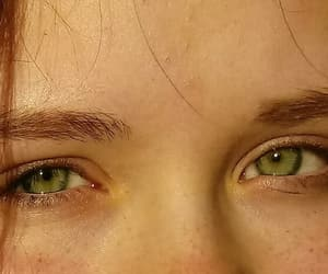 brown hair, emerald, and eyes image