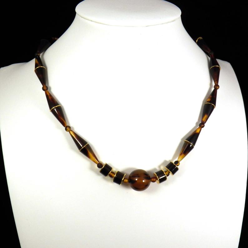 1930's, choker necklace, and gold plated jewelry image