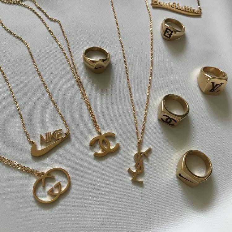 gucci, gold, and necklace image