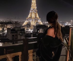 paris, girl, and night image