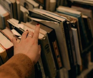 book, aesthetic, and hand image