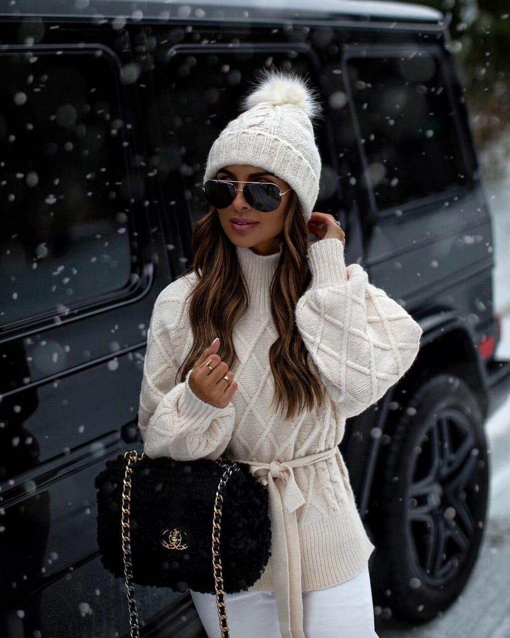 fashion, woman girl, and winter season image