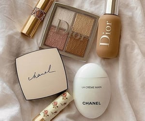 chanel, and dior image, and makeup image