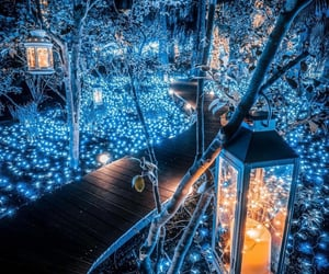 aesthetic, fairytale, and christmas lights image