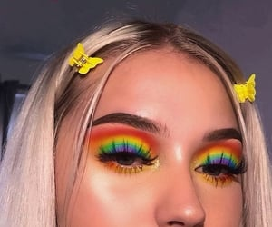 girl, makeup, and pride image