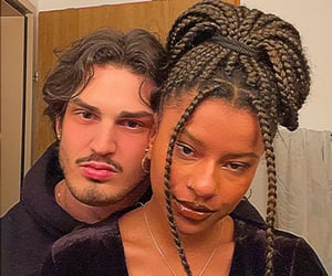 black, couple goals, and braids image