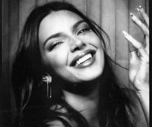 kendall jenner, black and white, and Kendall image