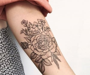 arm, girly, and ink image