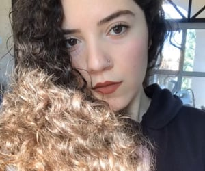 brown, nosepiercing, and curlygirl image
