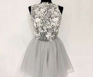 dress, lace dress, and short prom dress image