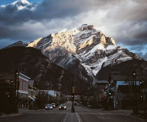 mountains, canada, and city image