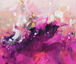 abstract art, contemporary art, and pink image