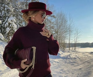 blonde, fashion, and snow image