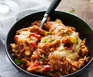 cheese, enchiladas, and corn image