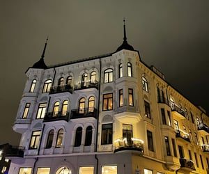 buildings, norway, and january image