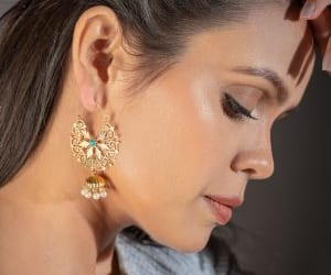 studs, earrings, and fashion image
