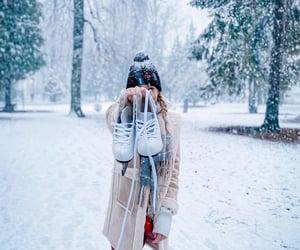 girl, ice, and photoshoot image