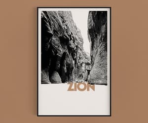 etsy, zion national park, and boho desert print image