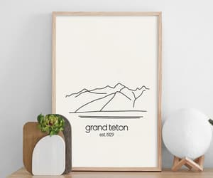 art wall, minimalist print, and national park poster image
