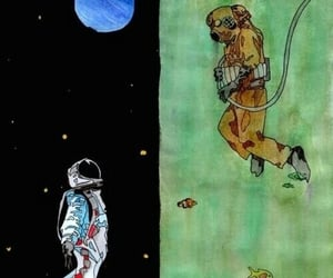 astronaut, background, and diver image
