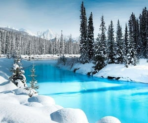 blue, canada, and nature image