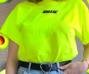 look, billie eilish, and neon image