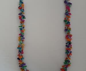 beaded necklace, colorful beads, and rainbow beads image
