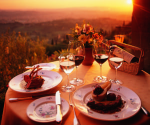 couple, diner, and romantic image