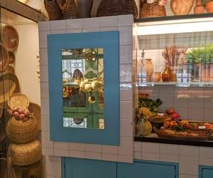 basket, blue, and cozinha image