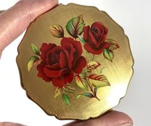 Vintage Compact Stratton Roses Unique Vintage Gift image 0
