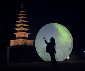 aesthetic, moon, and Temple image